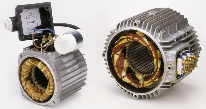 Einphasenelektromotor - Dreiphasenelektromotor